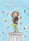 Mother's Day Card-Mother On Plinth Card